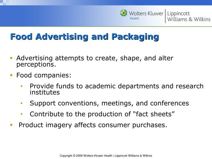 Food Advertising and Packaging