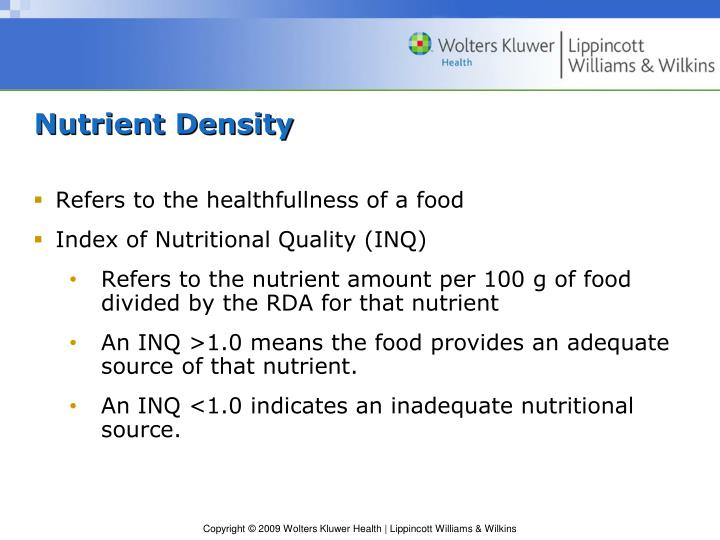 Nutrient Density