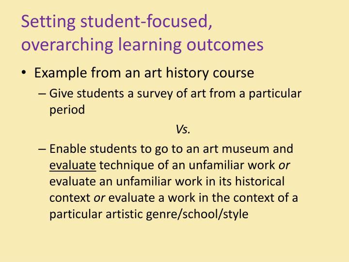 Setting student-focused,