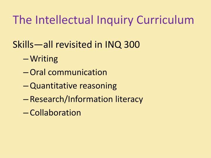 The Intellectual Inquiry Curriculum