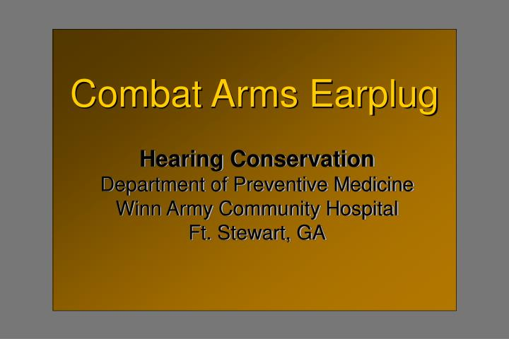 Combat Arms Earplug