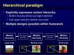 hierarchical paradigm