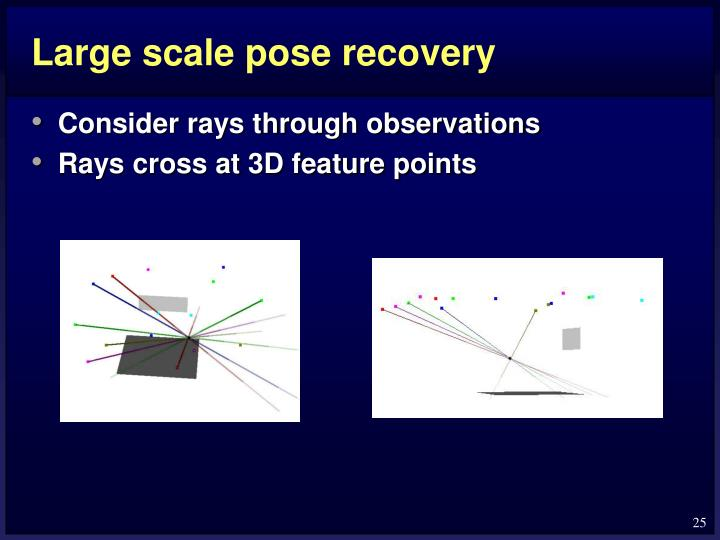 Large scale pose recovery