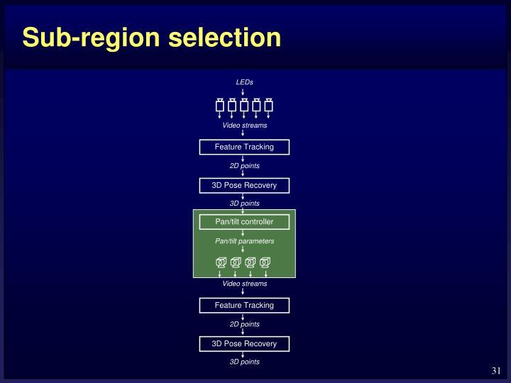 Sub-region selection