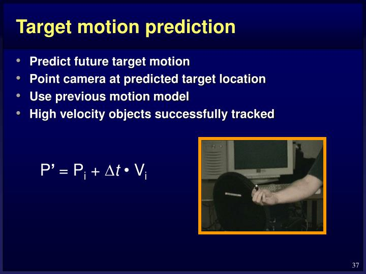 Target motion prediction
