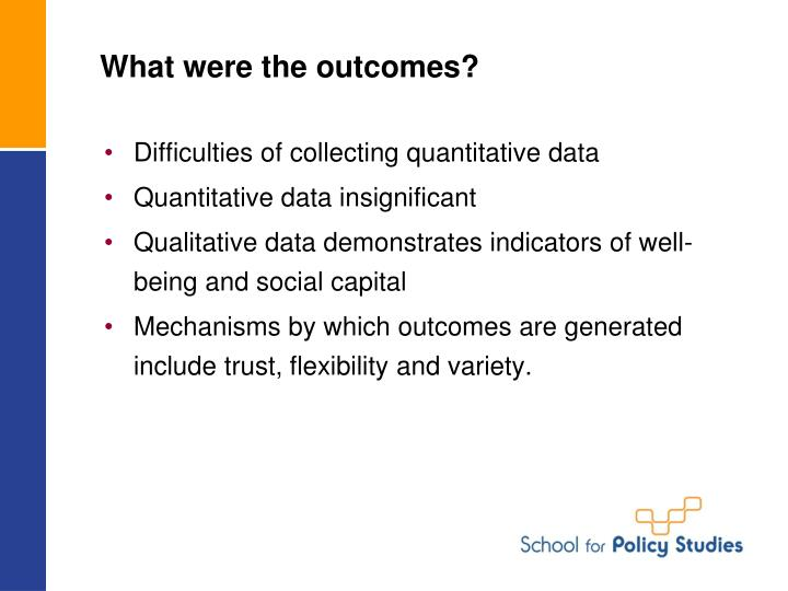 What were the outcomes?
