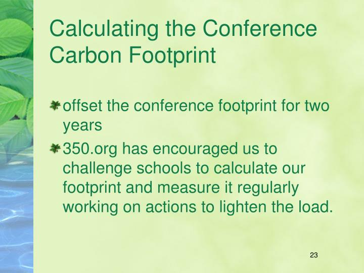Calculating the Conference Carbon Footprint