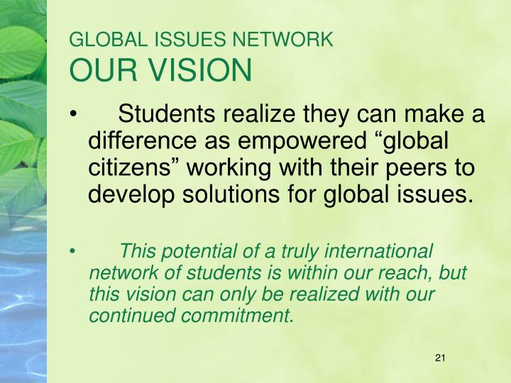 GLOBAL ISSUES NETWORK