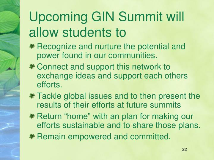 Upcoming GIN Summit will allow students to