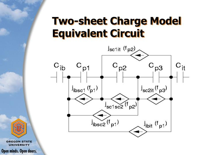 Two-sheet Charge Model Equivalent Circuit