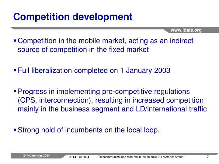 Competition development