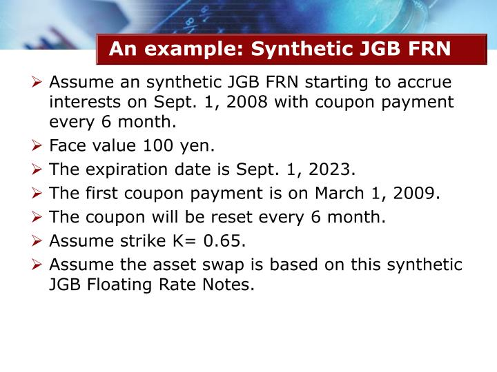 An example: Synthetic JGB FRN