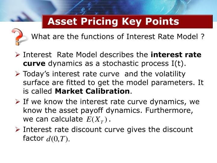 Asset Pricing Key Points