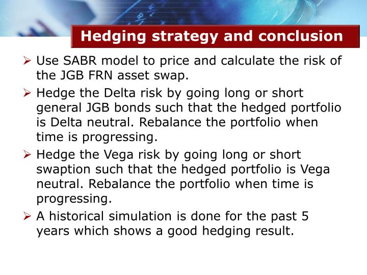 Hedging strategy and conclusion