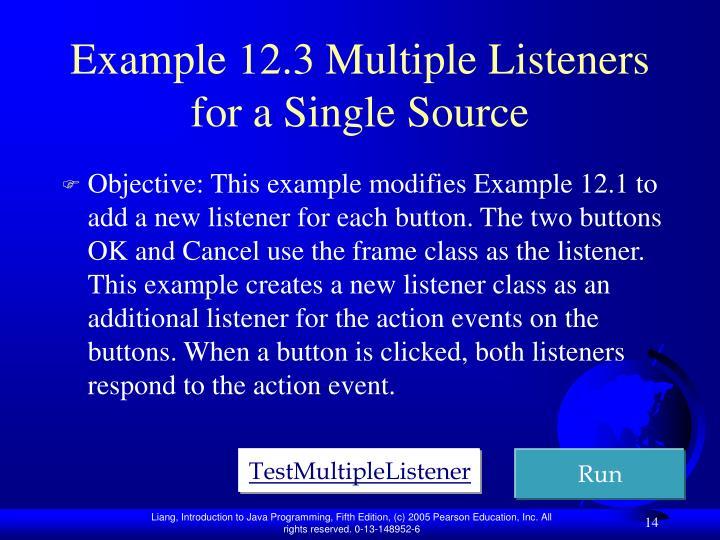 Example 12.3 M