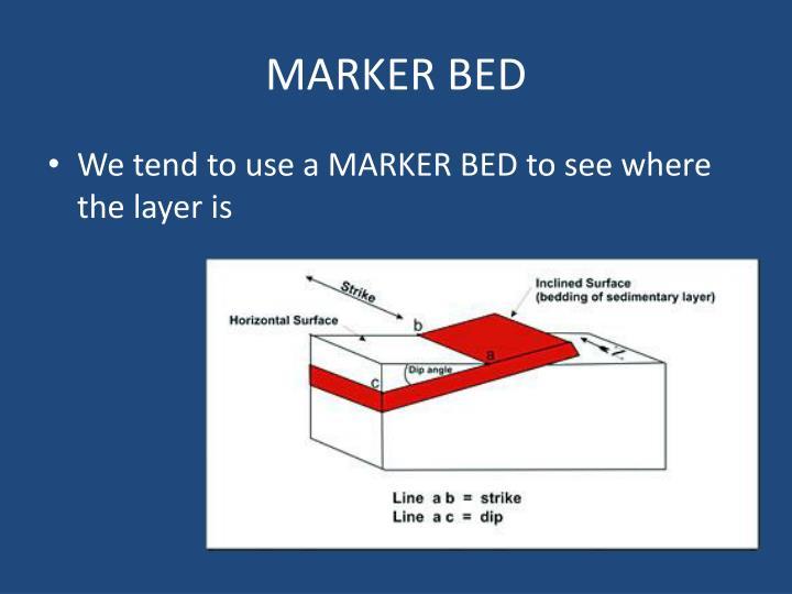 MARKER BED