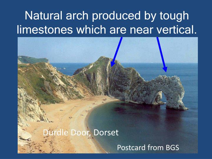 Natural arch produced by tough