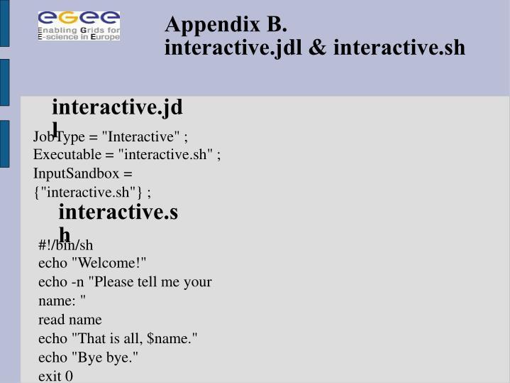 Appendix B.