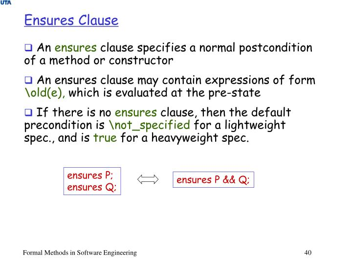 Ensures Clause
