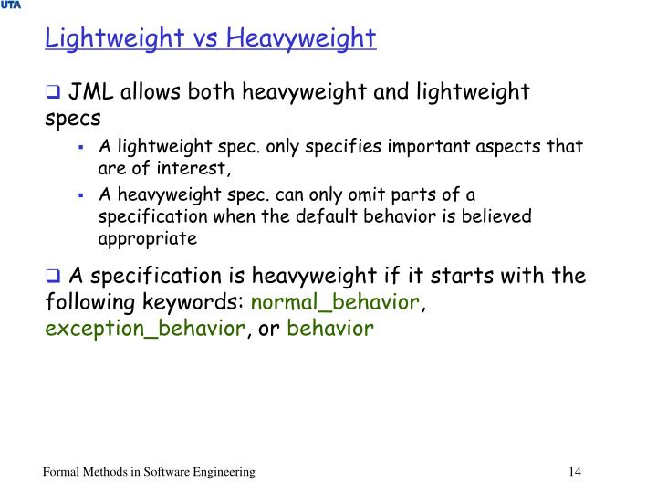 Lightweight vs Heavyweight