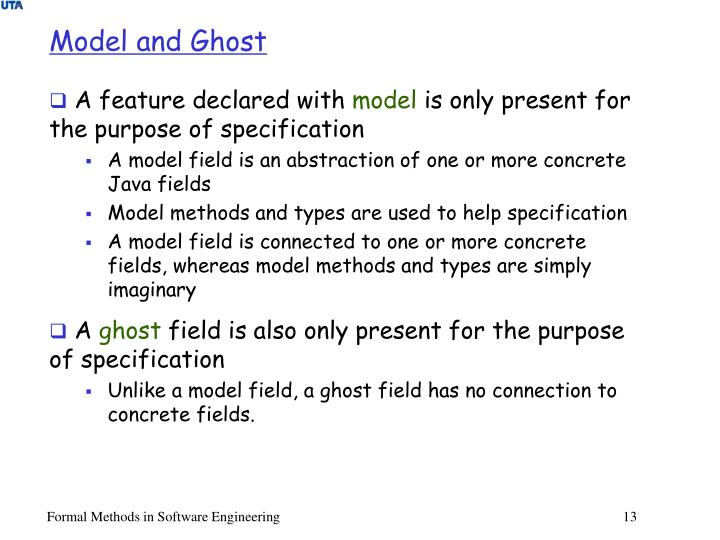 Model and Ghost