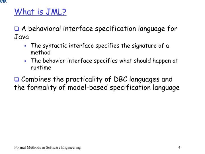 What is JML?