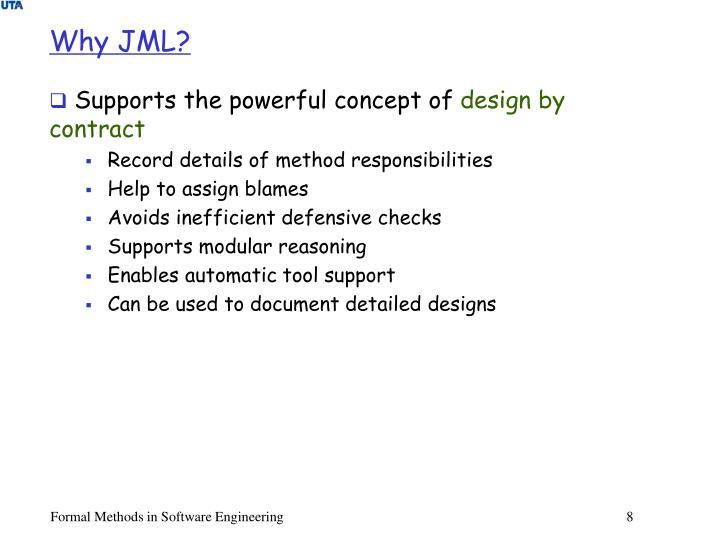 Why JML?