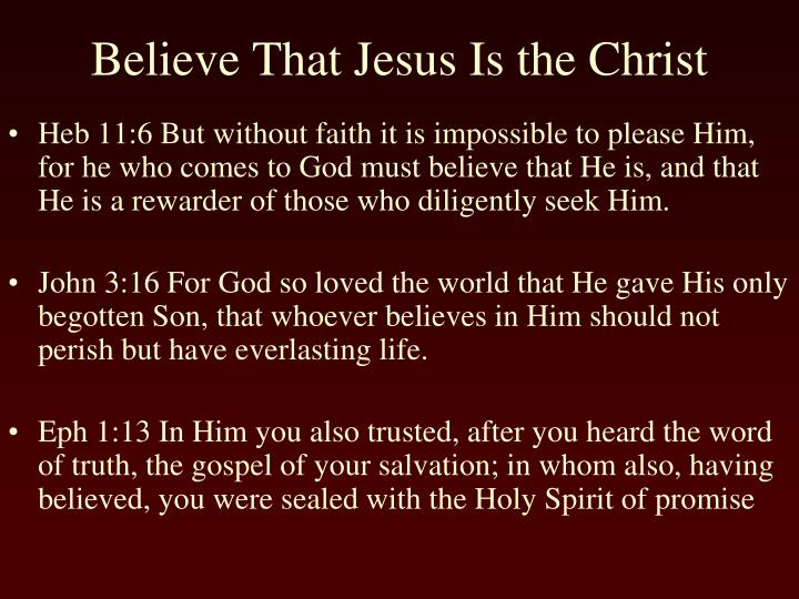 Heb 11:6 But without faith it is impossible to please Him, for he who comes to God must believe that He is, and that He is a rewarder of those who diligently seek Him.
