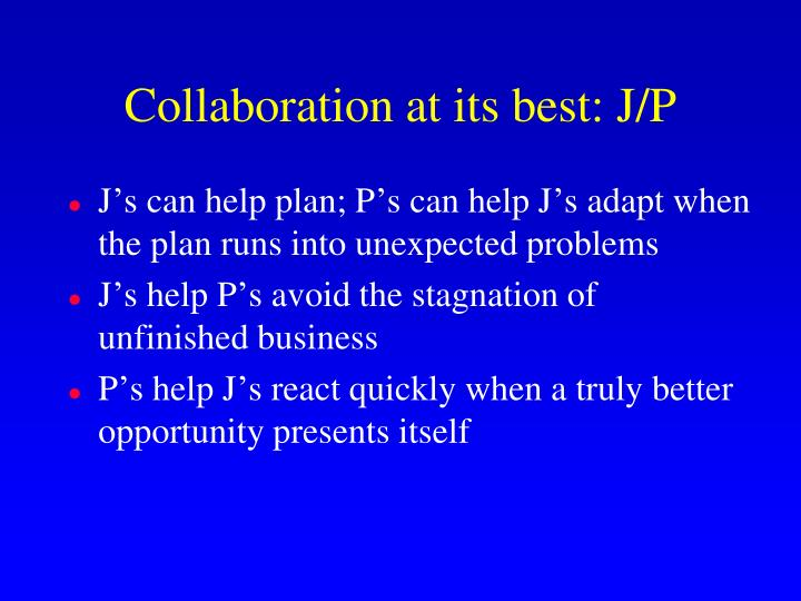 Collaboration at its best: J/P