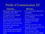 pitfalls of communication e i