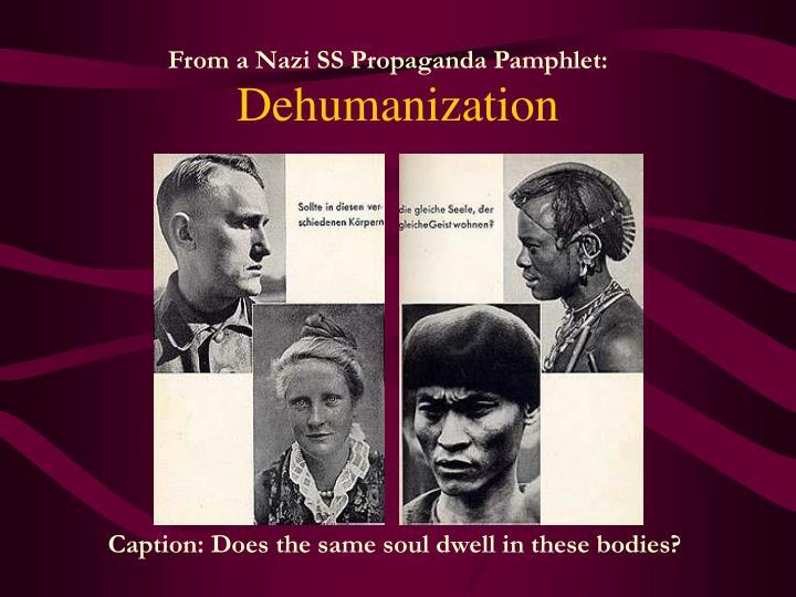 From a Nazi SS Propaganda Pamphlet: