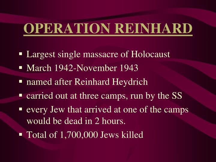 OPERATION REINHARD