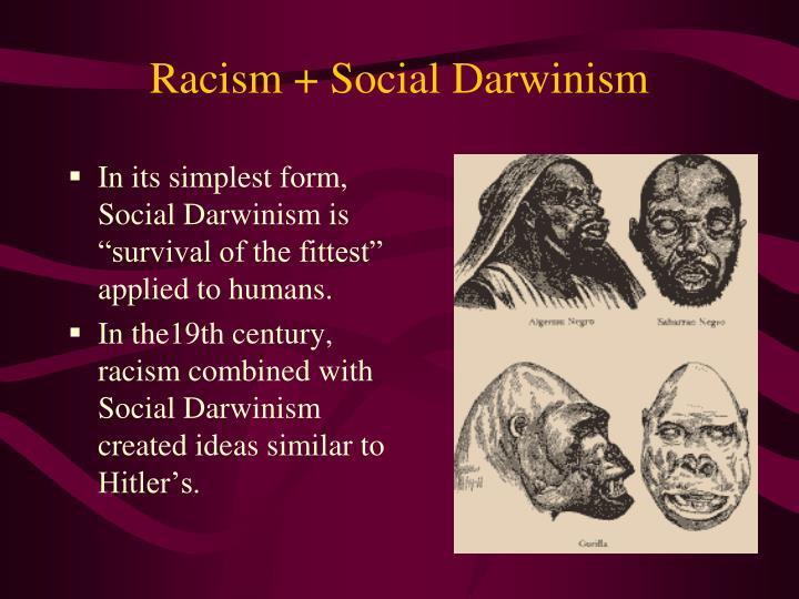 Racism + Social Darwinism