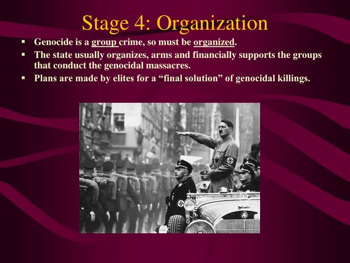 Stage 4: Organization