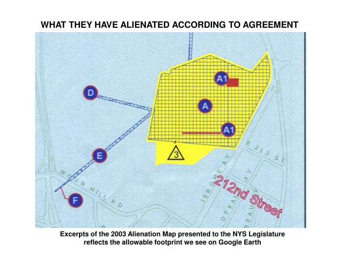 WHAT THEY HAVE ALIENATED ACCORDING TO AGREEMENT