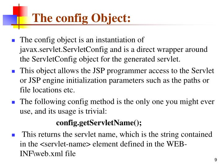 The config Object: