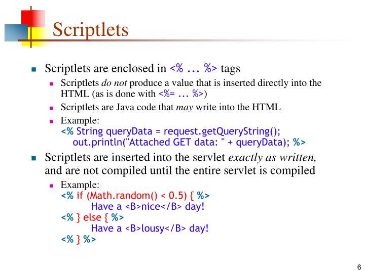 Scriptlets