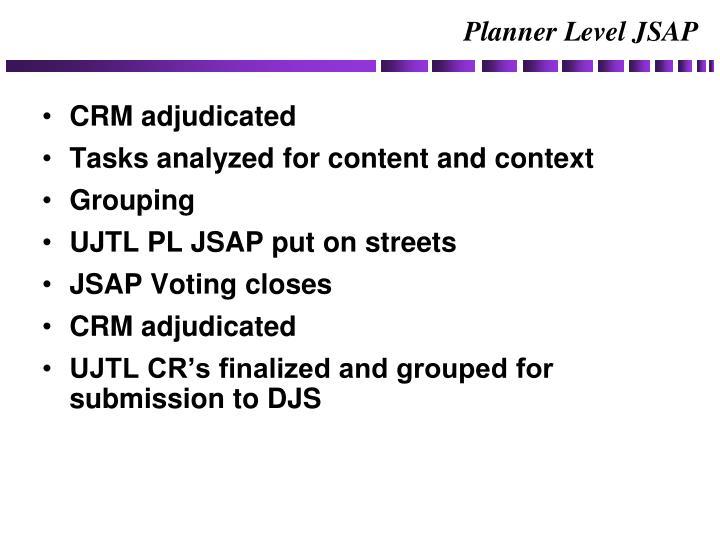 Planner Level JSAP