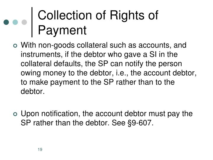 Collection of Rights of Payment