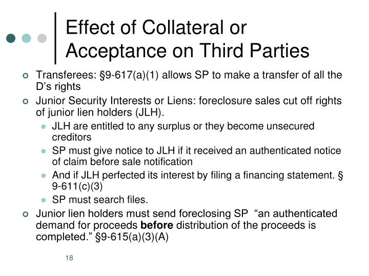 Effect of Collateral or Acceptance on Third Parties