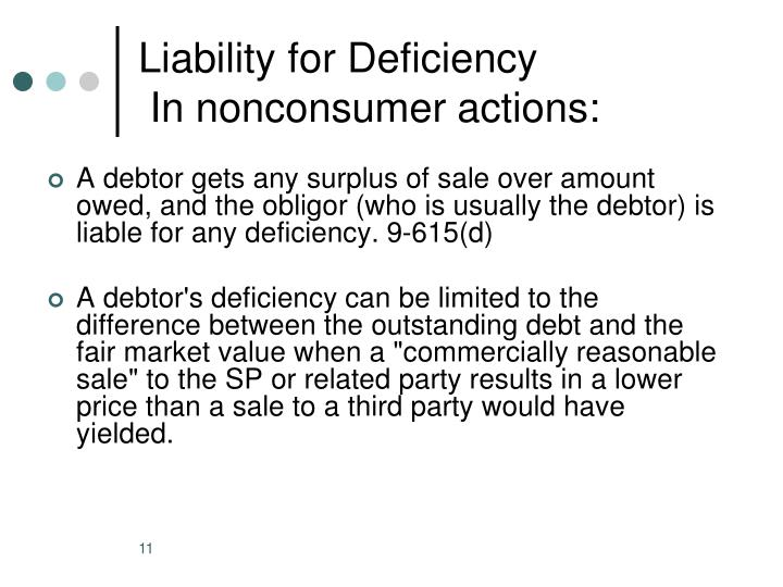 Liability for Deficiency