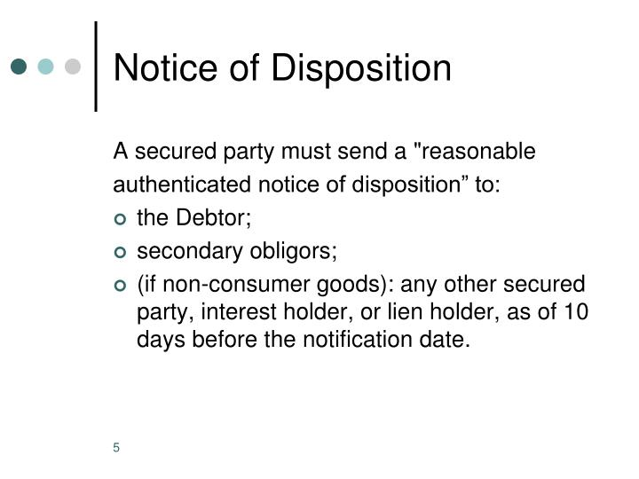 Notice of Disposition