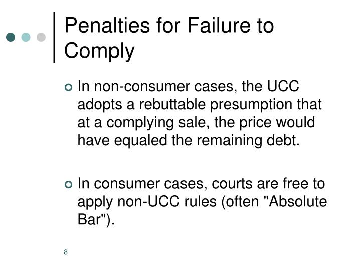 Penalties for Failure to Comply