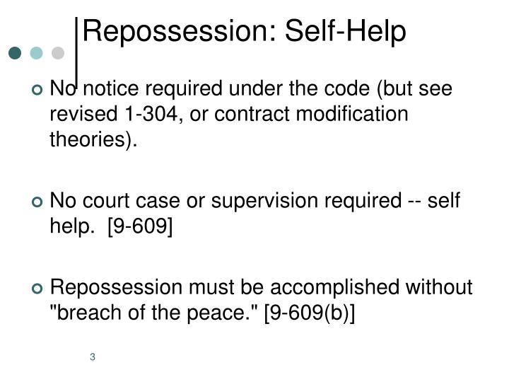 Repossession: Self-Help