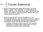 transfer statements