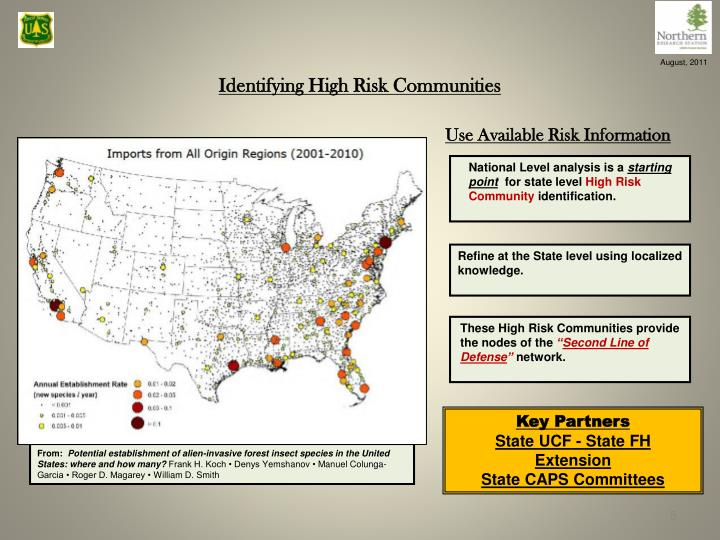 Identifying High Risk Communities