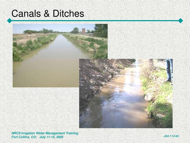 Canals & Ditches