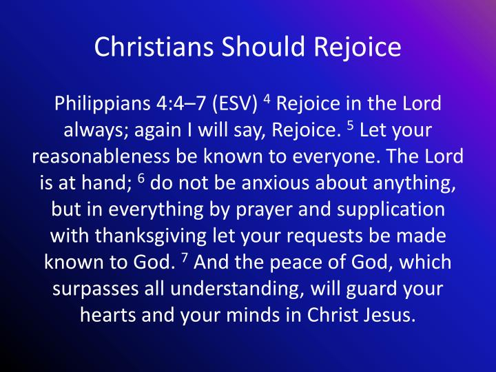 Christians Should Rejoice