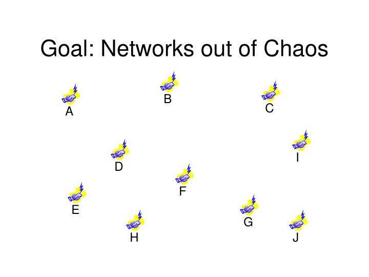 Goal networks out of chaos