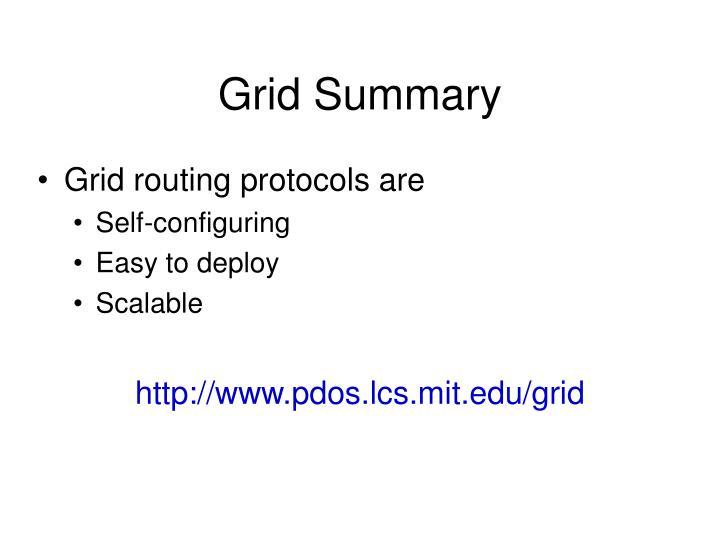 Grid Summary